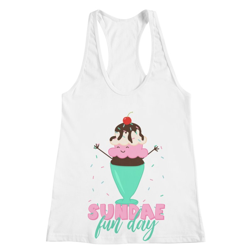 Sundae Fun Day Women's Racerback Tank by CardyHarHar's Artist Shop