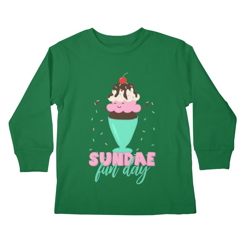 Sundae Fun Day Kids Longsleeve T-Shirt by CardyHarHar's Artist Shop