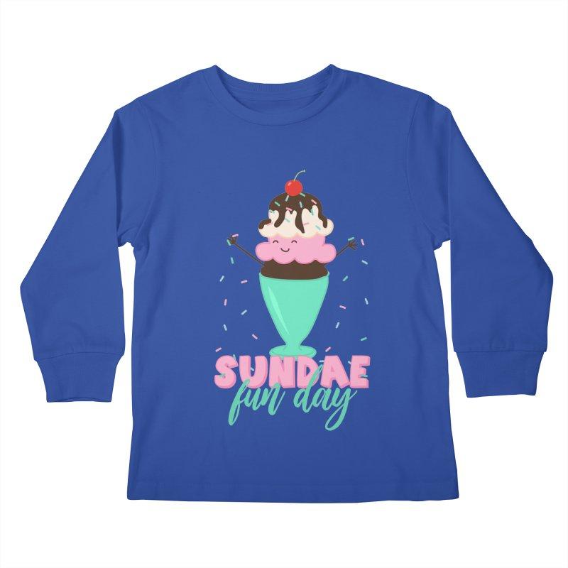 Sundae Fun Day Kids Longsleeve T-Shirt by CardyHarHar's Artist Shop