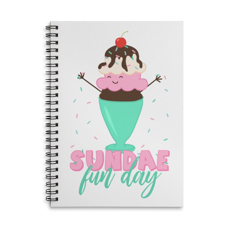 Sundae Fun Day Accessories Lined Spiral Notebook by CardyHarHar's Artist Shop