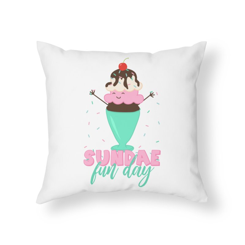 Sundae Fun Day Home Throw Pillow by CardyHarHar's Artist Shop