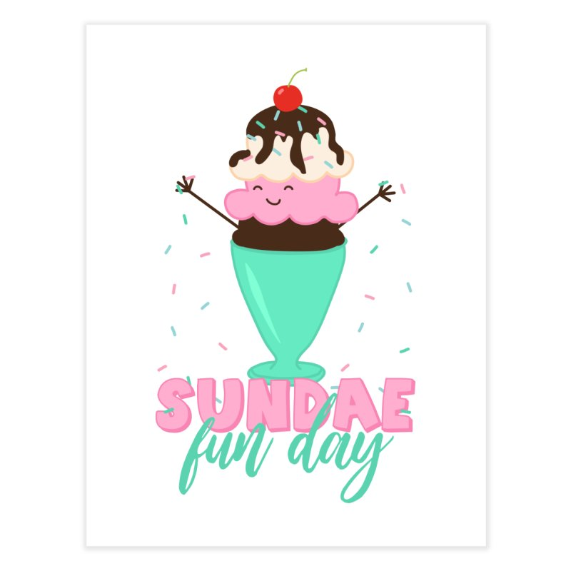 Sundae Fun Day Home Fine Art Print by CardyHarHar's Artist Shop
