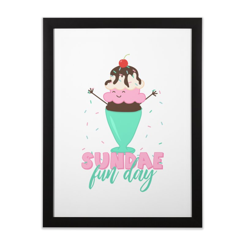 Sundae Fun Day Home Framed Fine Art Print by CardyHarHar's Artist Shop