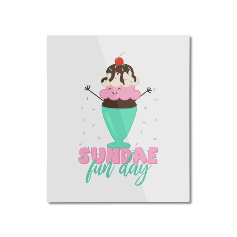 Sundae Fun Day Home Mounted Aluminum Print by CardyHarHar's Artist Shop