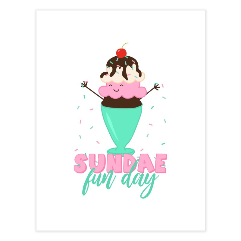 Sundae Fun Day Home Fine Art Print by CardyHarHar's Artist Shop