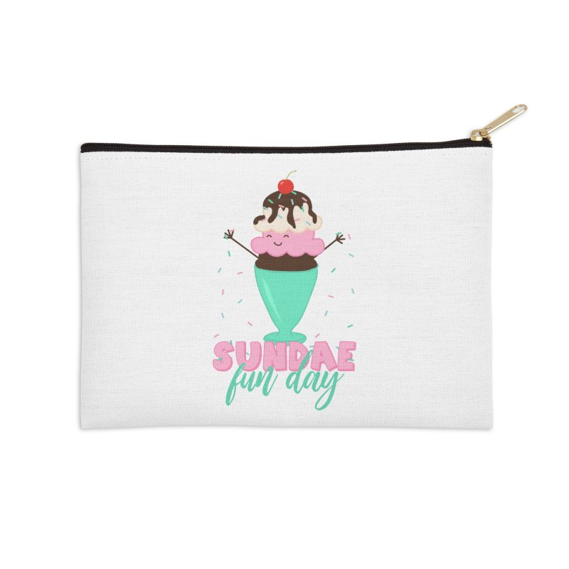 Sundae Fun Day Accessories Zip Pouch by CardyHarHar's Artist Shop