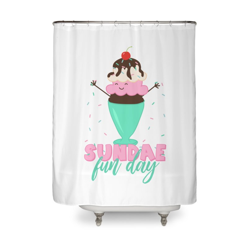 Sundae Fun Day Home Shower Curtain by CardyHarHar's Artist Shop