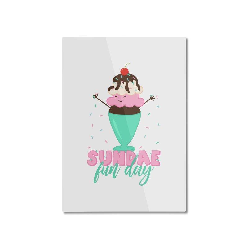 Sundae Fun Day Home Mounted Aluminum Print by CardyHarHar's Artist Shop