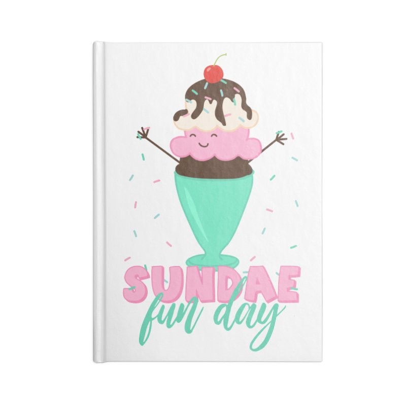 Sundae Fun Day Accessories Blank Journal Notebook by CardyHarHar's Artist Shop