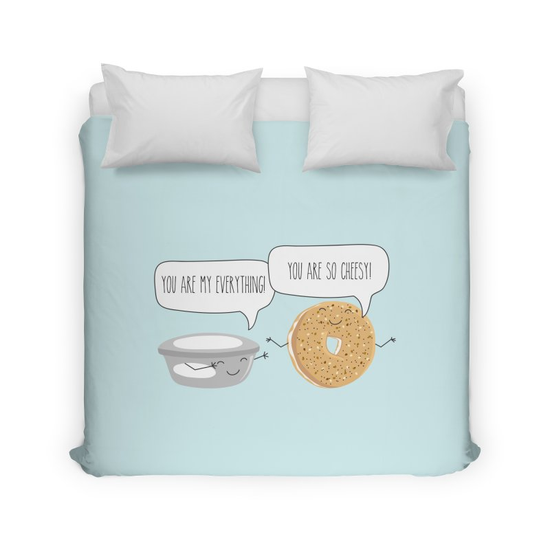 You Are My Everything Home Duvet by CardyHarHar's Artist Shop