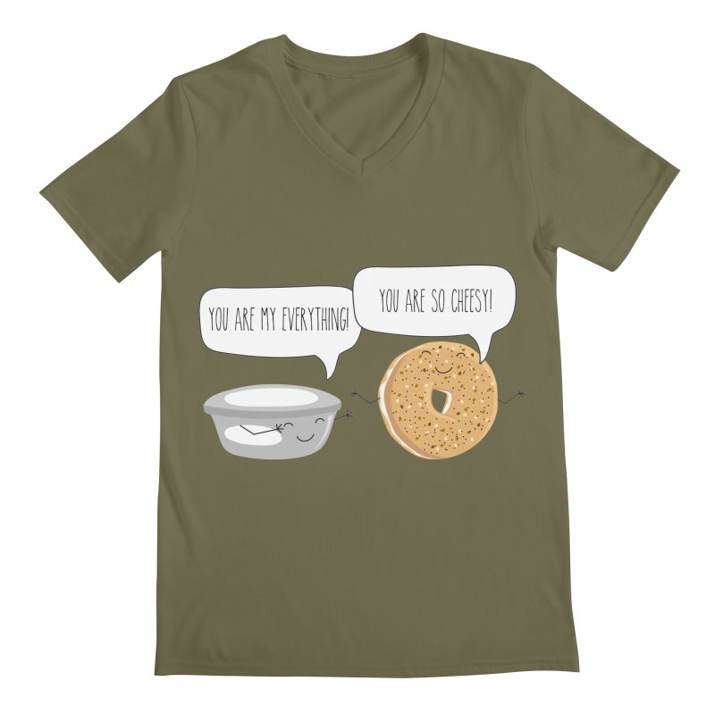 You Are My Everything Men's Regular V-Neck by CardyHarHar's Artist Shop