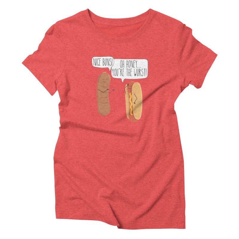 Nice Buns Women's T-Shirt by CardyHarHar's Artist Shop