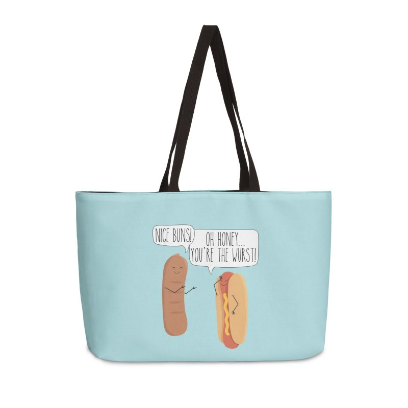 Nice Buns Accessories Weekender Bag Bag by CardyHarHar's Artist Shop
