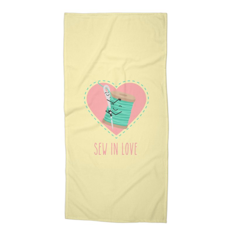 Sew In Love Accessories Beach Towel by CardyHarHar's Artist Shop