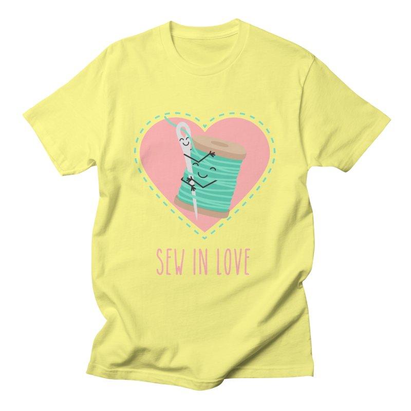 Sew In Love Men's T-Shirt by CardyHarHar's Artist Shop