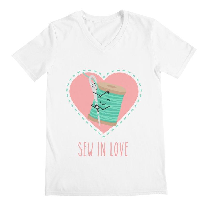 Sew In Love Men's V-Neck by CardyHarHar's Artist Shop