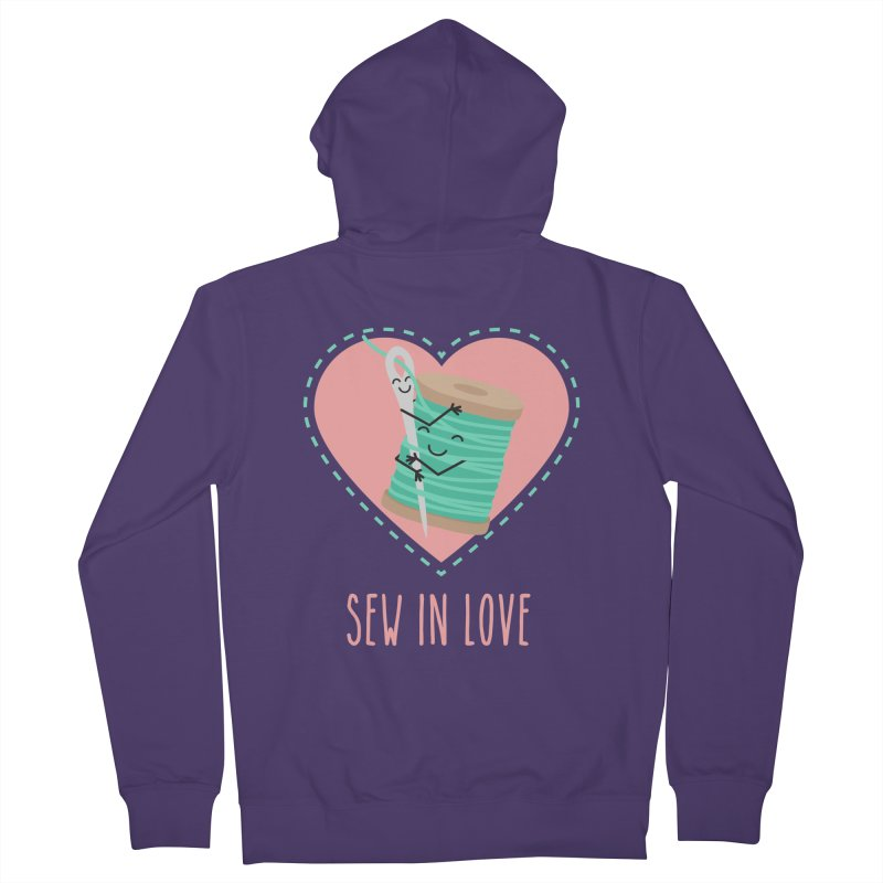 Sew In Love Women's French Terry Zip-Up Hoody by CardyHarHar's Artist Shop