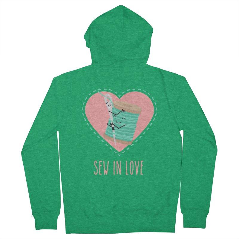Sew In Love Men's Zip-Up Hoody by CardyHarHar's Artist Shop