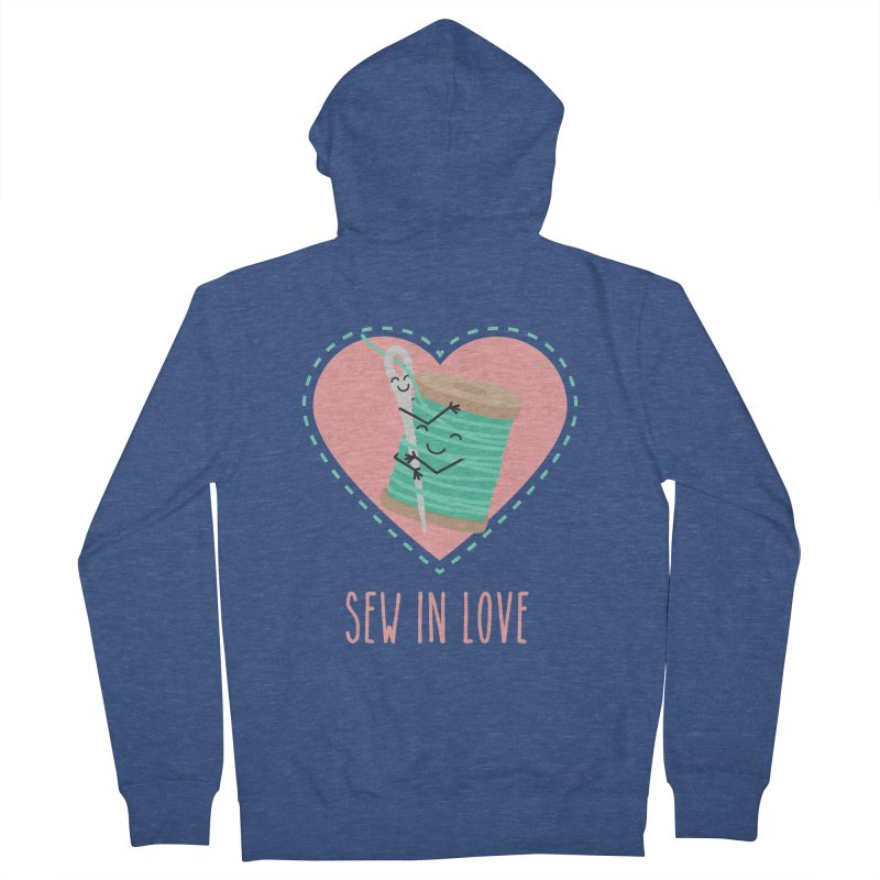 Sew In Love Men's French Terry Zip-Up Hoody by CardyHarHar's Artist Shop