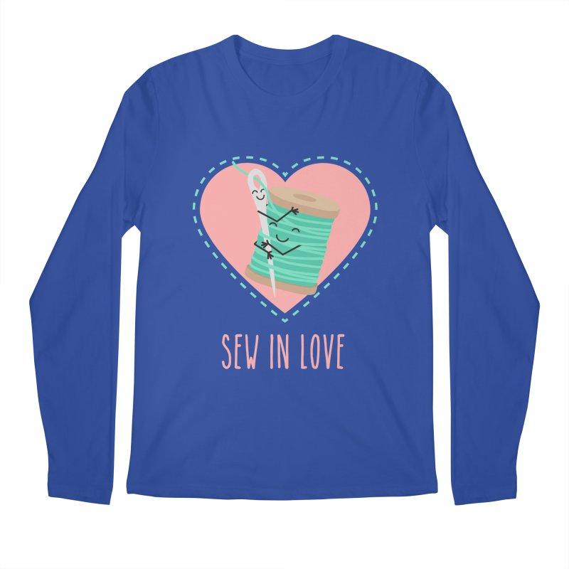 Sew In Love Men's Regular Longsleeve T-Shirt by CardyHarHar's Artist Shop