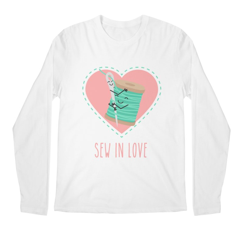 Sew In Love Men's Regular Longsleeve T-Shirt by CardyHarHar's Artist Shop