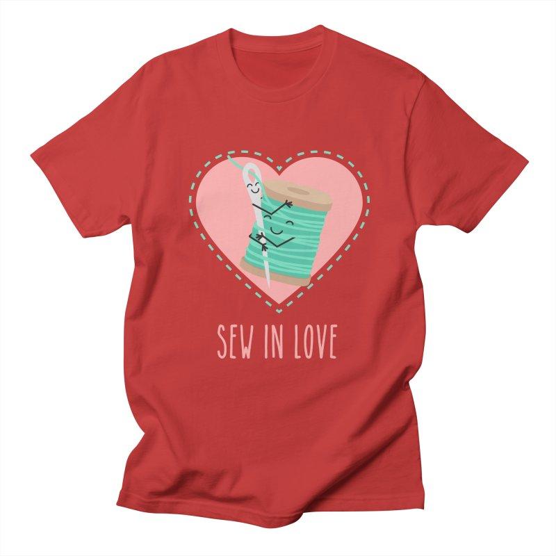 Sew In Love Women's T-Shirt by CardyHarHar's Artist Shop