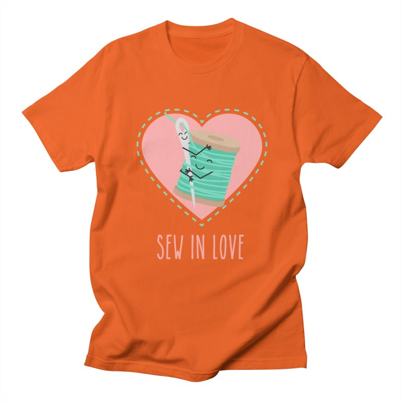 Sew In Love Men's Regular T-Shirt by CardyHarHar's Artist Shop