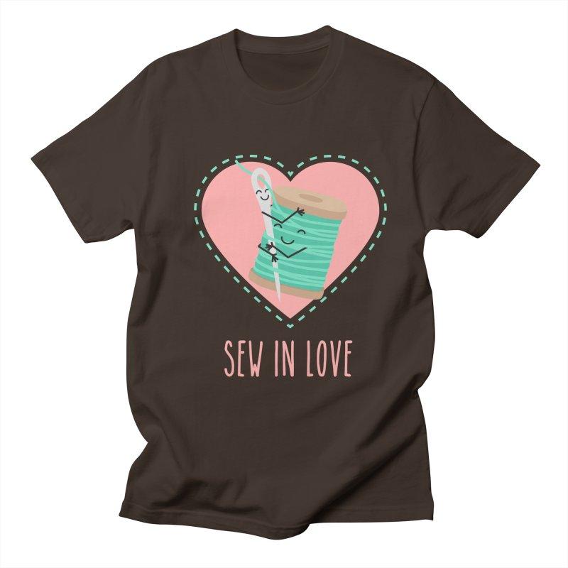 Sew In Love Men's Regular T-Shirt by CardyHarHar's Artist Shop
