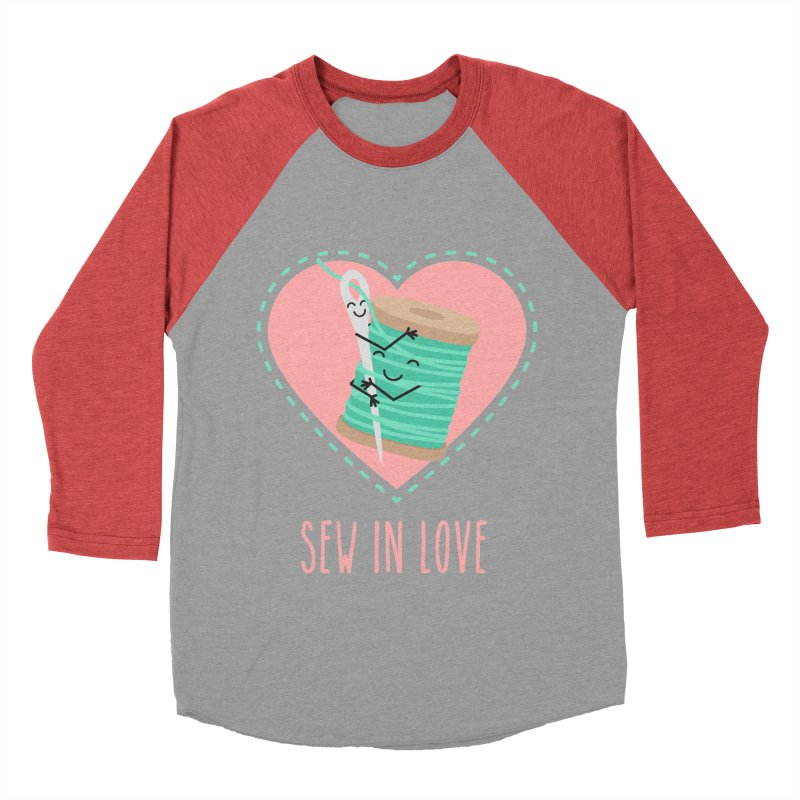 Sew In Love Men's Baseball Triblend Longsleeve T-Shirt by CardyHarHar's Artist Shop