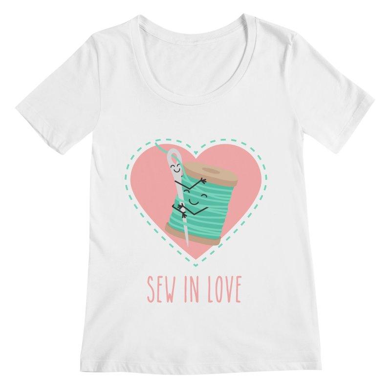 Sew In Love Women's Regular Scoop Neck by CardyHarHar's Artist Shop