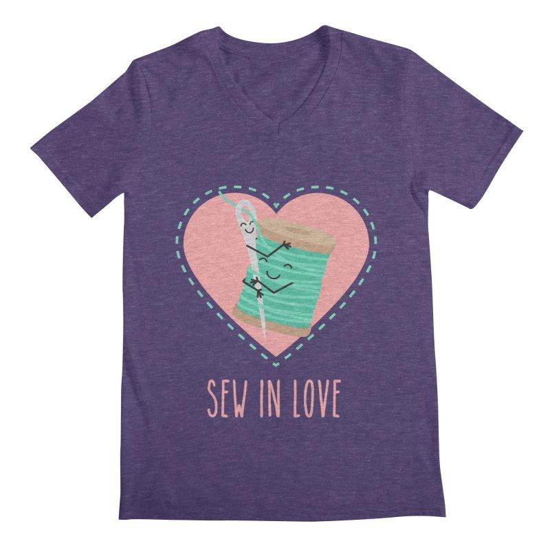 Sew In Love Men's Regular V-Neck by CardyHarHar's Artist Shop