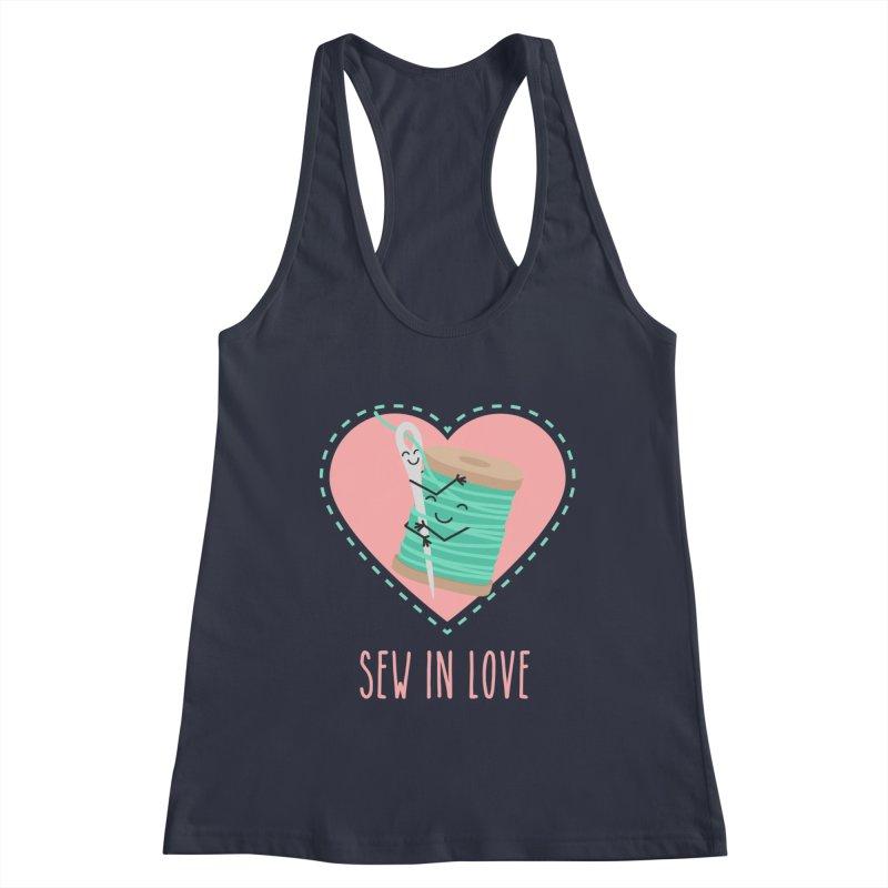 Sew In Love Women's Racerback Tank by CardyHarHar's Artist Shop