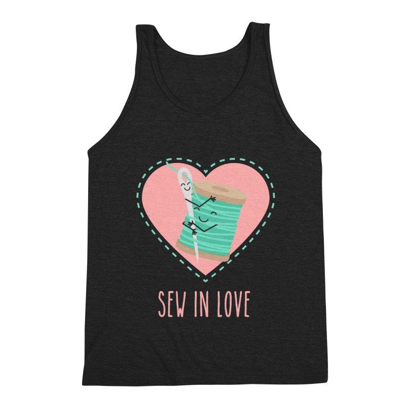 Sew In Love Men's Triblend Tank by CardyHarHar's Artist Shop