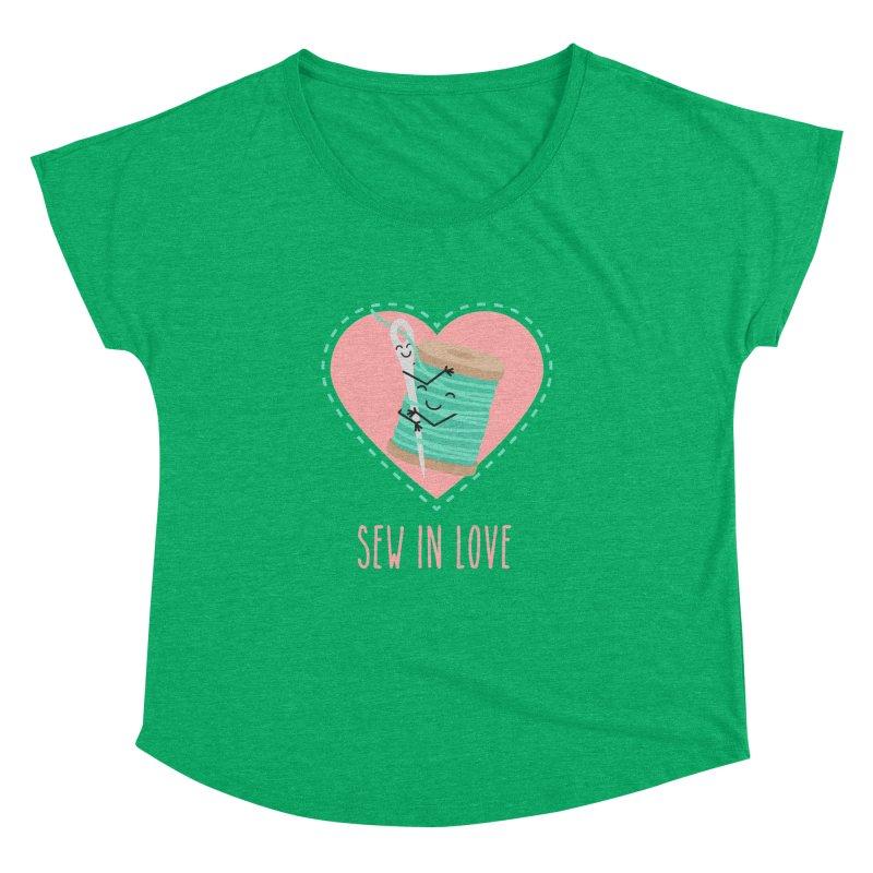 Sew In Love Women's Dolman Scoop Neck by CardyHarHar's Artist Shop