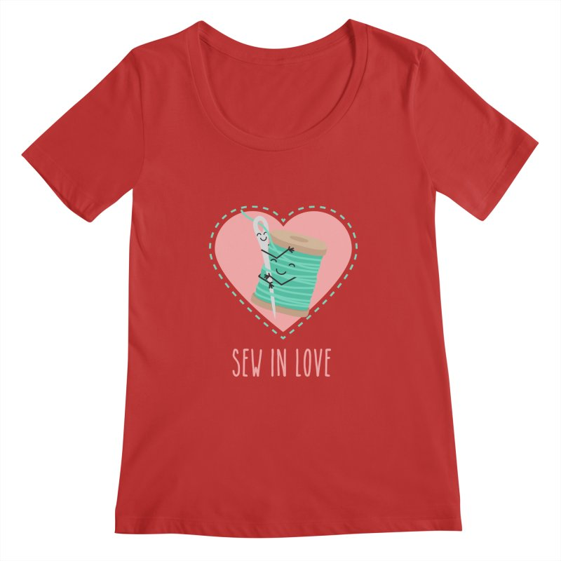 Sew In Love Women's Regular Scoop Neck by CardyHarHar's Artist Shop