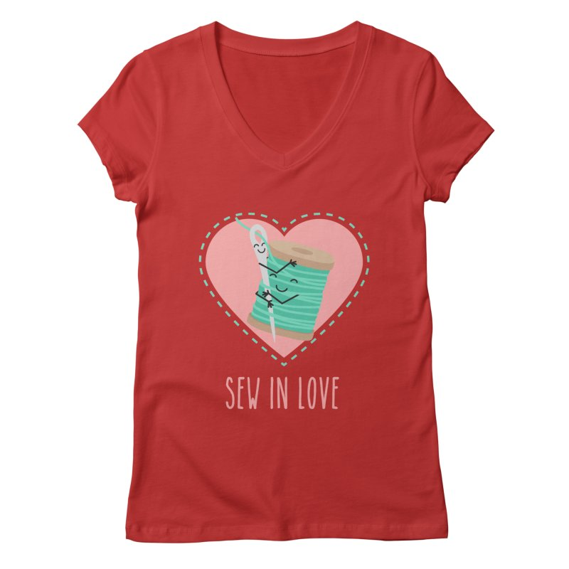 Sew In Love Women's Regular V-Neck by CardyHarHar's Artist Shop