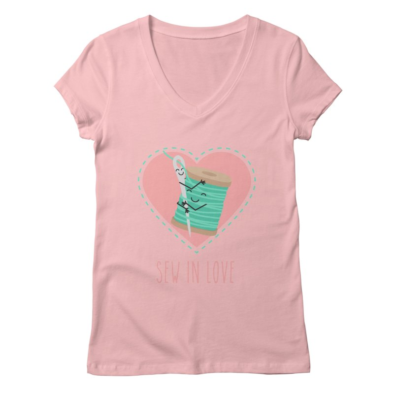 Sew In Love Women's Regular V-Neck by CardyHarHar's Artist Shop