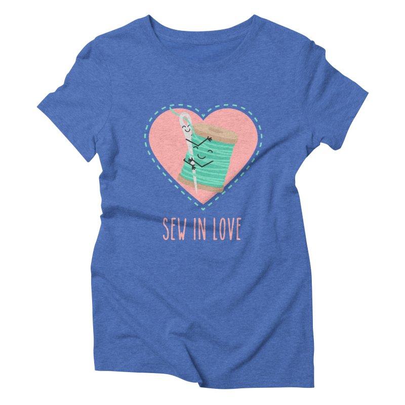Sew In Love Women's Triblend T-Shirt by CardyHarHar's Artist Shop
