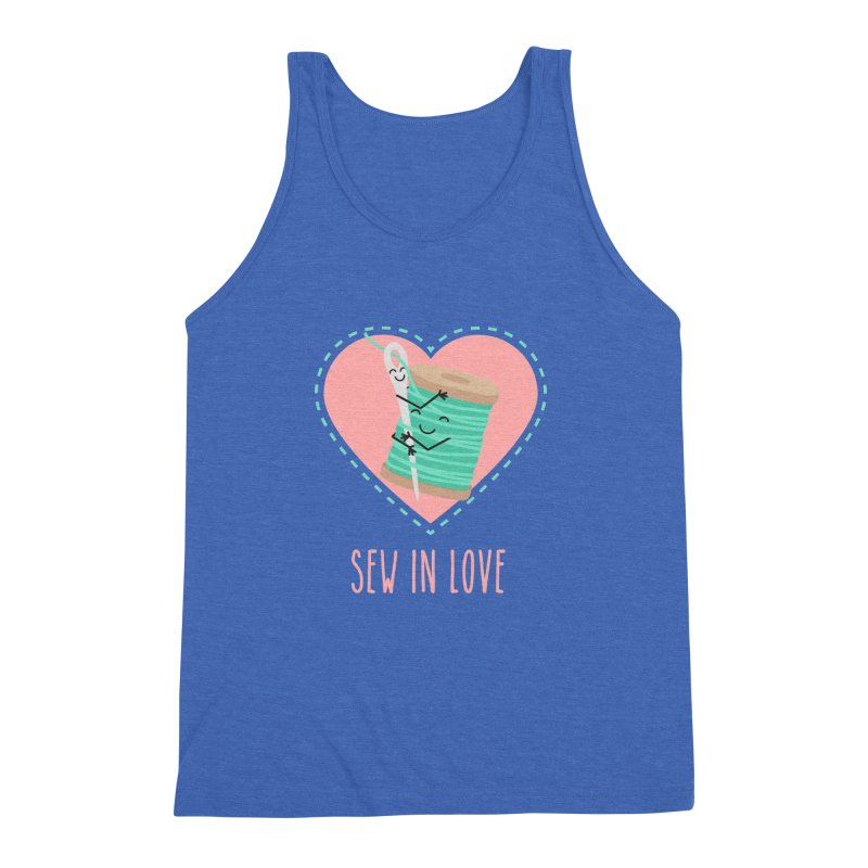 Sew In Love Men's Triblend Tank by CardyHarHar's Artist Shop