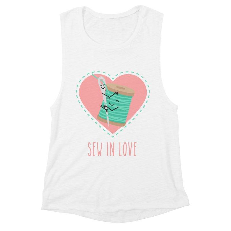 Sew In Love Women's Muscle Tank by CardyHarHar's Artist Shop
