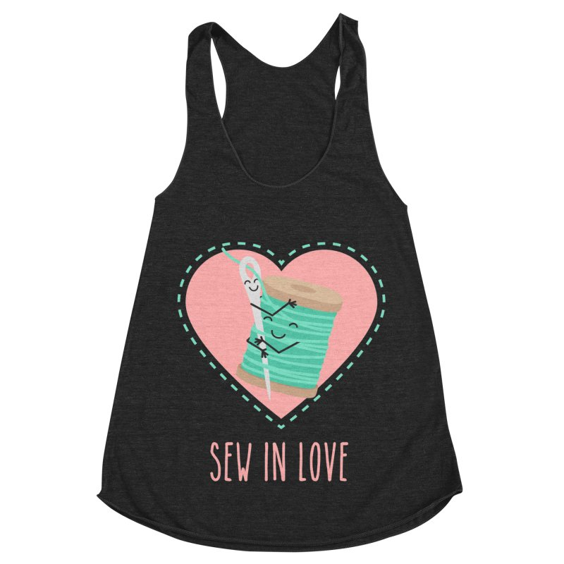 Sew In Love Women's Racerback Triblend Tank by CardyHarHar's Artist Shop