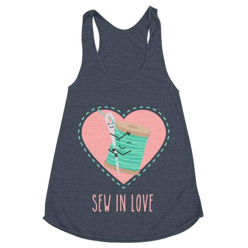 Sew In Love Women's Racerback Triblend Tank by CardyHarHar's Artist Shop