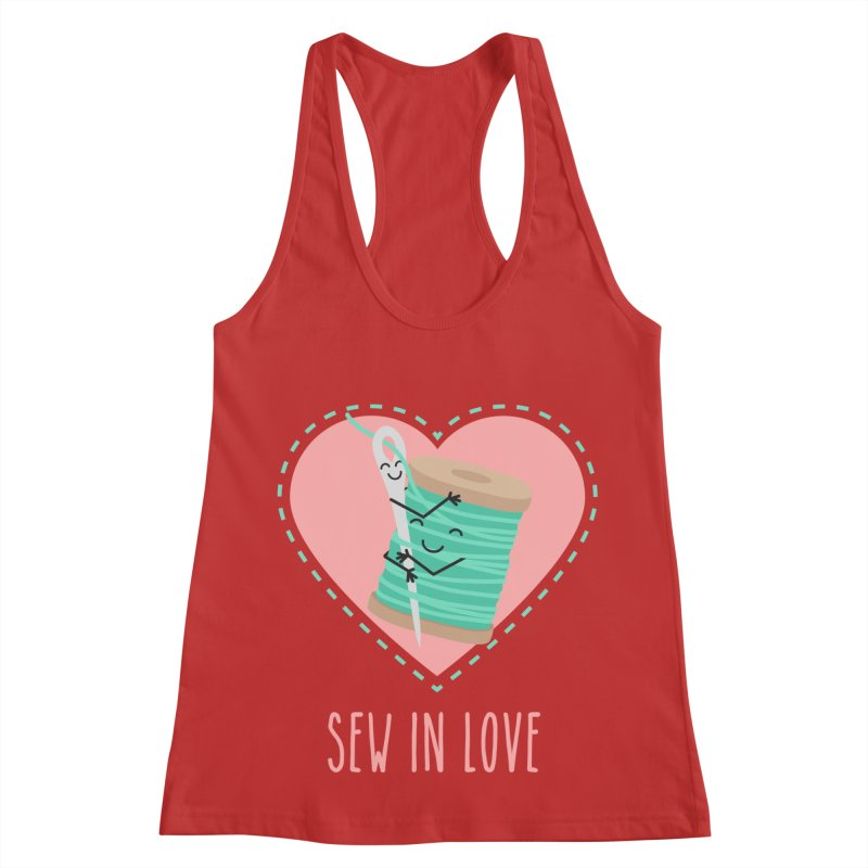 Sew In Love Women's Racerback Tank by CardyHarHar's Artist Shop