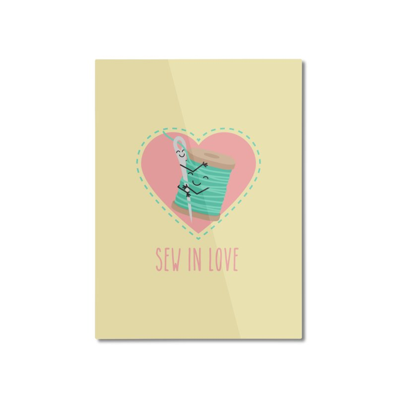 Sew In Love Home Mounted Aluminum Print by CardyHarHar's Artist Shop