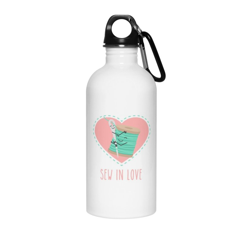 Sew In Love Accessories Water Bottle by CardyHarHar's Artist Shop