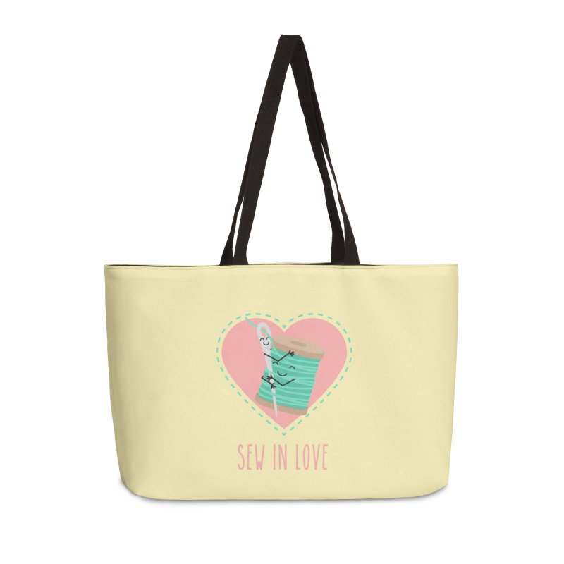 Sew In Love Accessories Weekender Bag Bag by CardyHarHar's Artist Shop