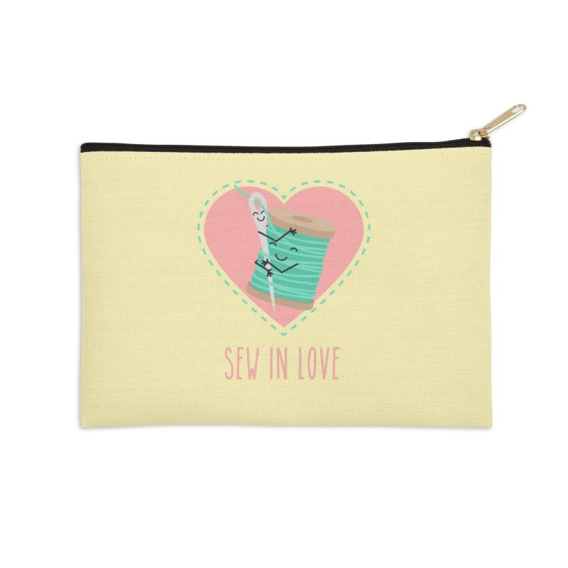 Sew In Love Accessories Zip Pouch by CardyHarHar's Artist Shop