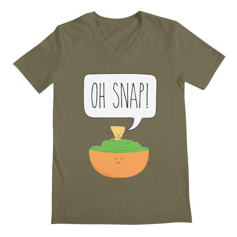 Oh Snap Men's V-Neck by CardyHarHar's Artist Shop