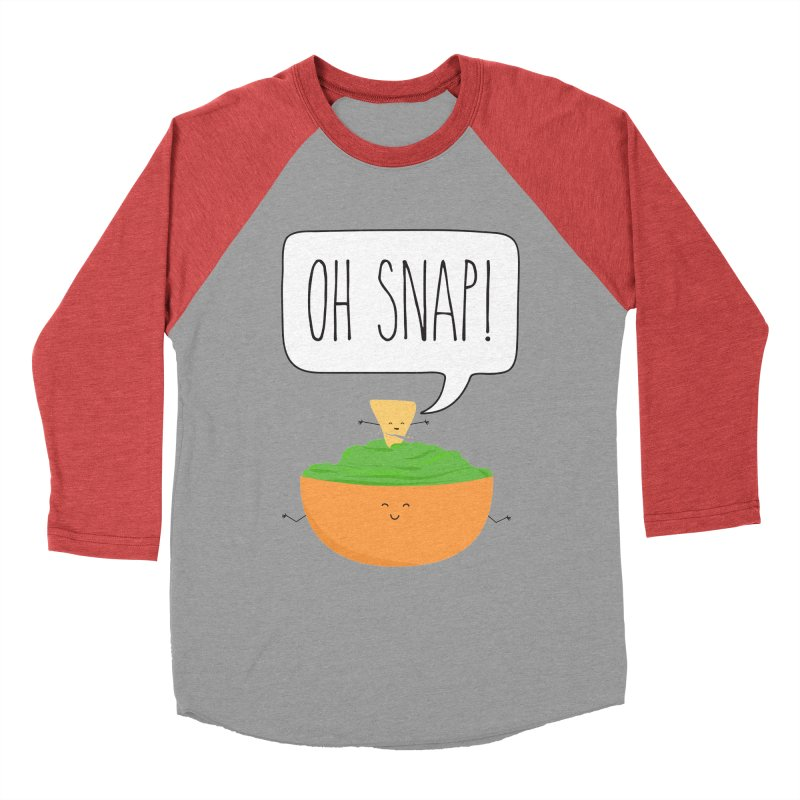 Oh Snap Men's Baseball Triblend Longsleeve T-Shirt by CardyHarHar's Artist Shop