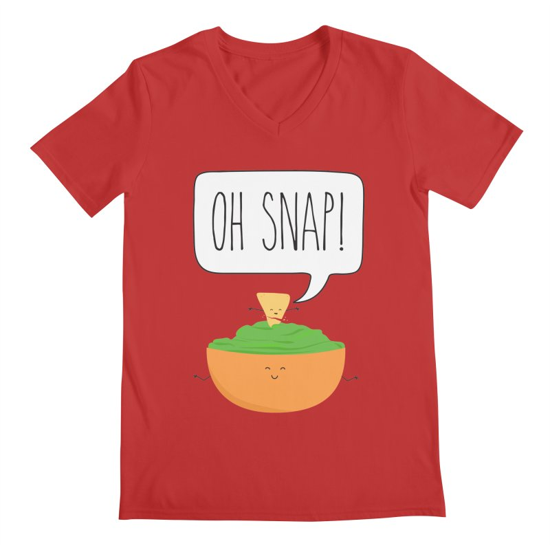 Oh Snap Men's Regular V-Neck by CardyHarHar's Artist Shop